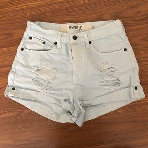 Brandy Melville Button Fly Denim Shorts